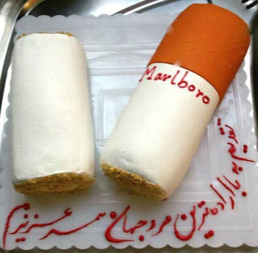 کیک جشن تبریک ترک سیگار شوهر