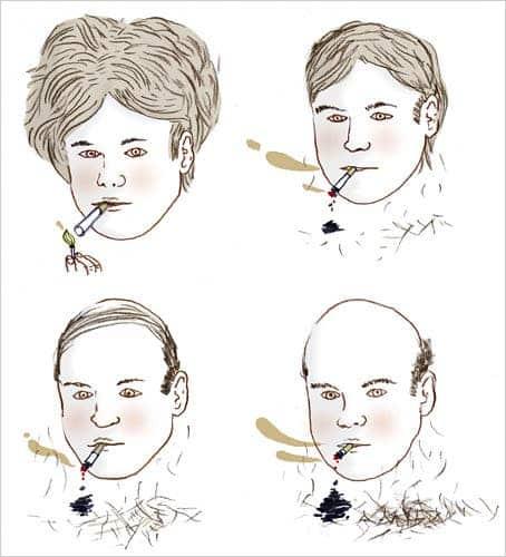 تاثیرات سیگار بر مو